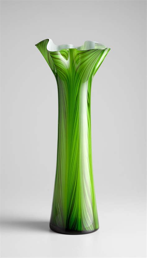 Green Decorative Vases Large Emerald Green Glass Vase By Cyan Design