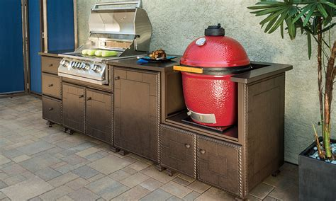 outdoor kitchen island casual cottage outdoor kitchens gt kitchen islands gt gas kamado grill