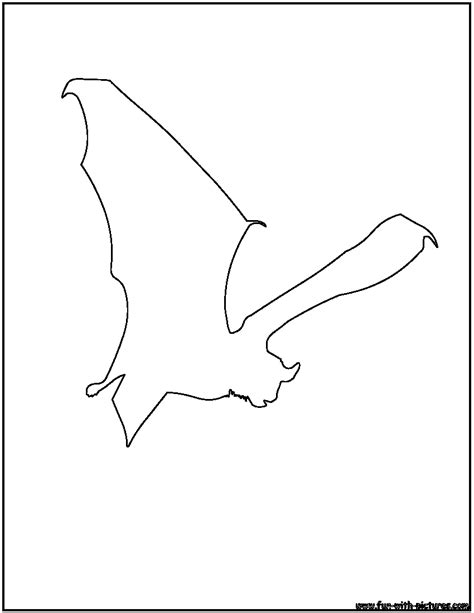 Bat Outline Vector by Free Coloring Pages Of Bat Outline