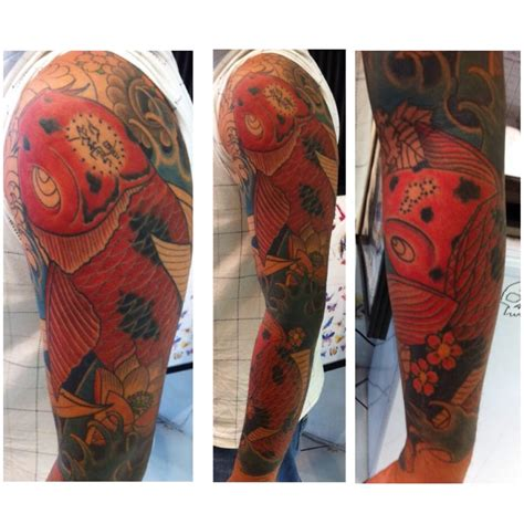 koi tattoo hawaii custom koi fish custom sleeve tattoo done by horiyume
