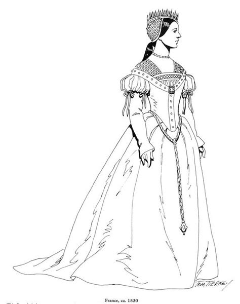 renaissance dress coloring page 525 best images about costumes 16 siecles on pinterest