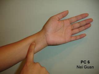 nausea before bed acupressure point p6 pericardium 6 or nei guan explore