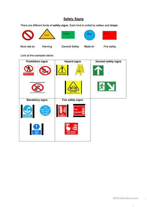 Safety Signs Worksheets by Safety Signs Worksheet Free Esl Printable Worksheets