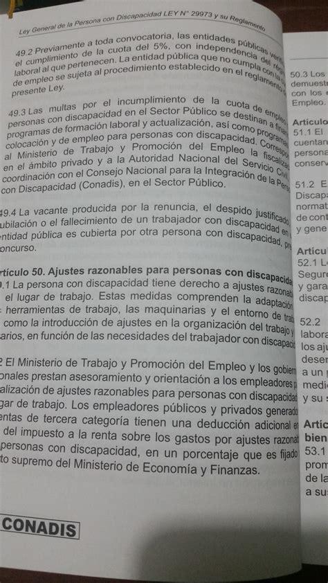 ley de discapacidad 2016 cuotas de las personas con discapacidad blog de luis
