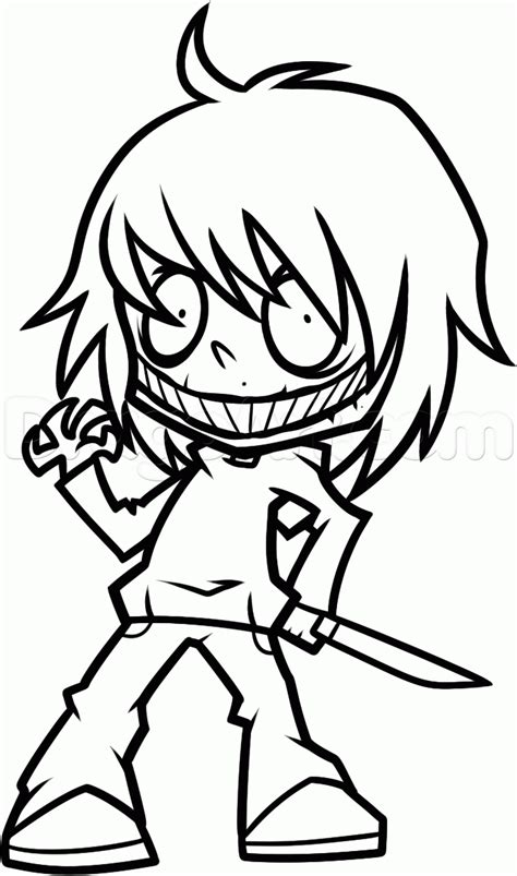 How To Draw Jeff The Killer Chibi how to draw chibi jeff the killer step by step chibis