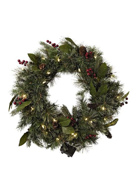 battery lit wreath pre lit wreaths pre lit battery operated door wreaths
