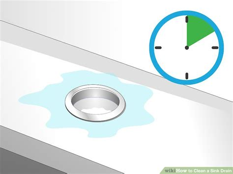 clean sink drain with 3 ways to clean a sink drain wikihow