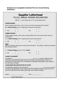 Wood Packing Declaration Form