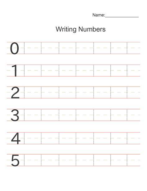 printable numbers 1 5 preschool writing numbers 1 to 5 simple loving printable