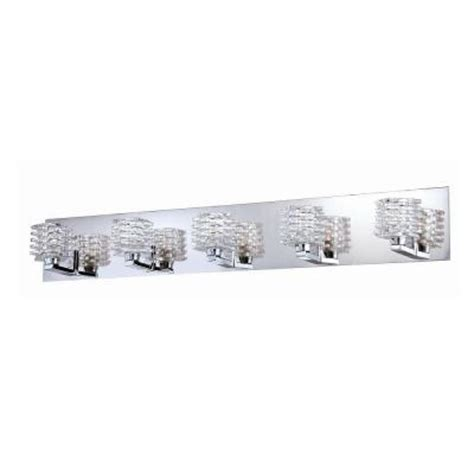 home depot bathroom light bars lenza collection 5 light chrome bath bar 25725 018 the