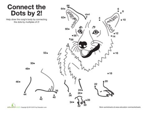 printable dot to dot counting in 2s common worksheets 187 times tables printables preschool