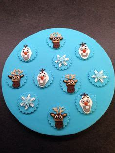 edible fondant frozen olaf themed cupcake toppers olaf golosinas y galleta