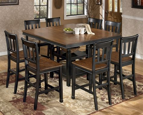 Counter Height Dining Room Set Owingsville Square Counter Height Extendable Dining Room Set From D580 Coleman Furniture