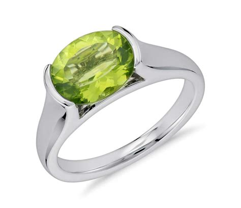 Ring Peridot peridot oval ring in sterling silver 10x8mm blue nile