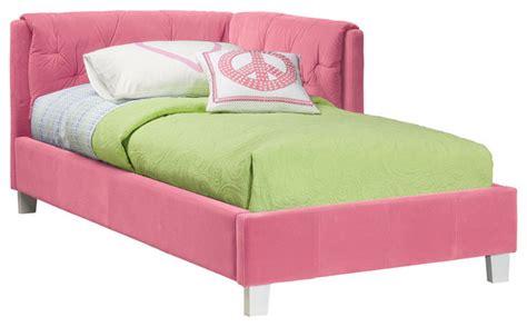 kids corner beds standard furniture my room twin corner daybed in pink