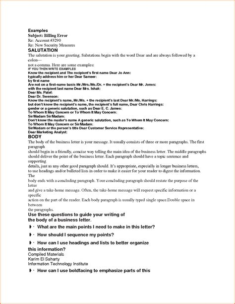 Sle Letter Closing Your Business Cover Letter Salutation 43 Images Salutation Cover