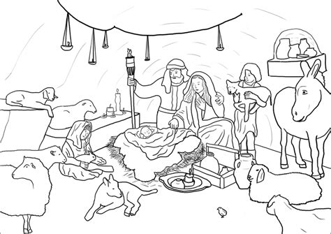 christmas coloring pages of nativity scene free printable nativity coloring pages for kids best