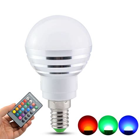 led light bulb color energy 16 color changing light e27 e14 rgb bulb led