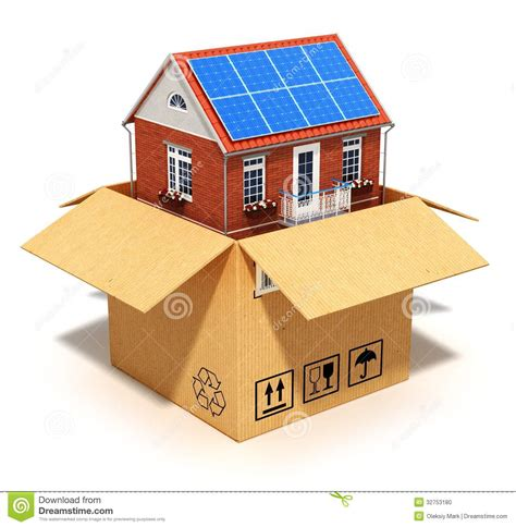 why build custom creative home concepts custom builders in rva new house in cardboard box stock illustration image of