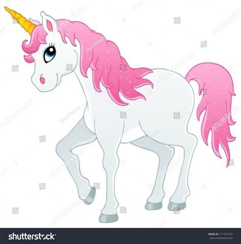unicorn fairy tale illustrations fairy tale unicorn theme image 1 vector illustration
