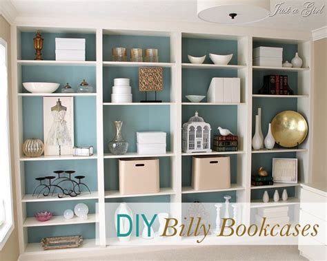 Diy Billy Bookcase diy built in bookcases
