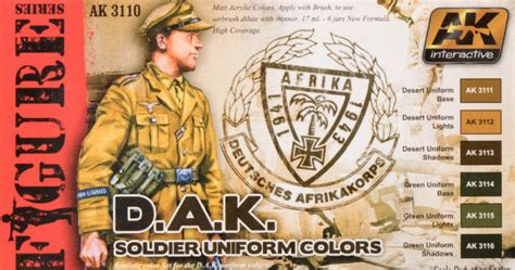 ak interactive ak 3110 dak soldier colors paint review