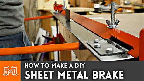 diy sheet metal brake doovi
