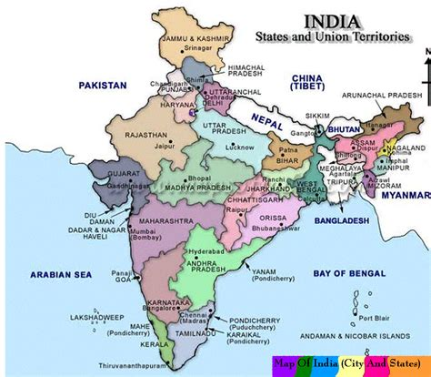 india map with cities map of india with cities