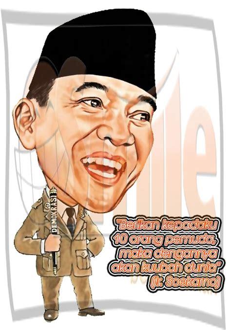 Kaos Soekarno Sketch karikatur tokoh nasional pak karno besmilelah