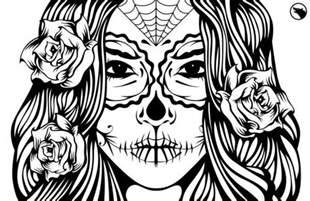 sugar skull illustration coloring ideas skull coloring los muertos