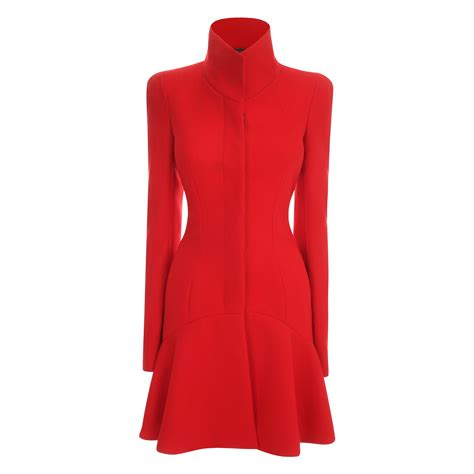 Dress Coat mcqueen wave panel dress coat in lyst