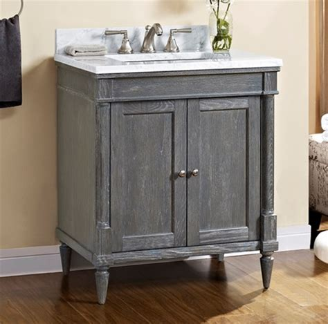 rustic chic 30 vanity silvered oak fairmont designs
