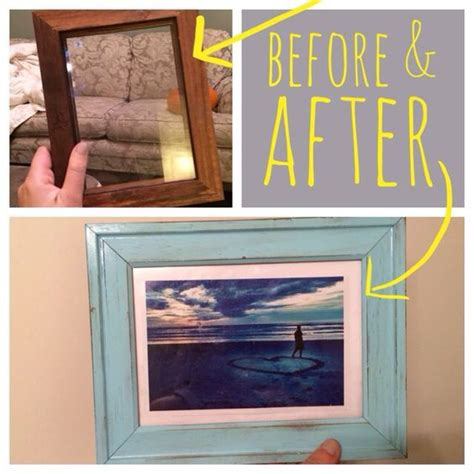 spray painting frames diy painted picture frames decor blue use a cheap wooden