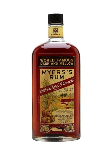 Planters Punch Myers Rum by Myers S Rum Planters Punch Bot 1960s The Whisky