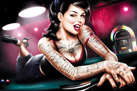 tattoo pin up girl wallpaper 50 mind blowing artworks where pinup art meets typography