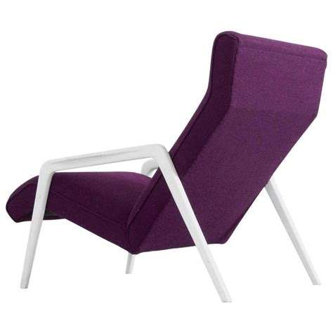purple chaise lounge sale scandinavian lounge chair in purple upholstery for sale at