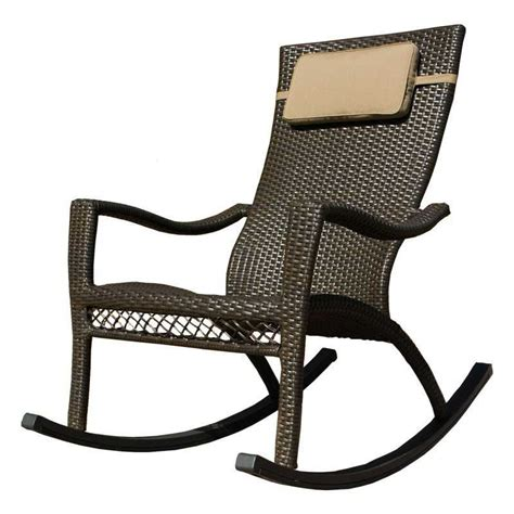 Outdoor Rocker Chair by Tortuga Outdoor Tuscan Lorne Wicker Rocking Chair Tl Rc