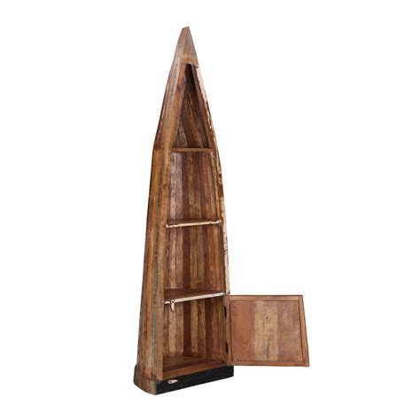 boat shelf with drawers reclaimed wood canoe boat bookcase with drawers