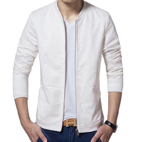 design white jacket brand white jacket men veste homme 2015 fashion baseball