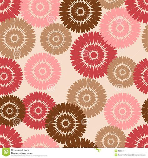 brown flower pattern pink and brown flower pattern royalty free stock