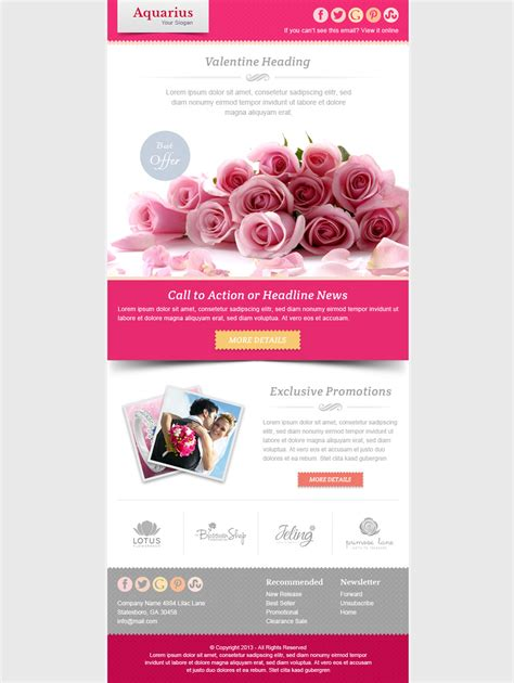 Valentines Newsletter Template email marketing newsletter template by pophonic themeforest