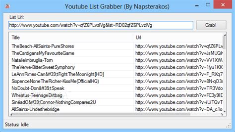 download youtube list download free youtube grabber freeware software
