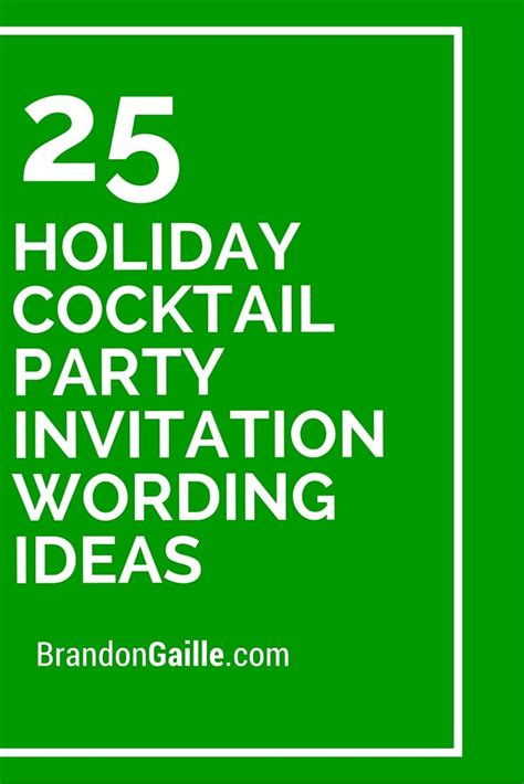 christmas cocktail party invitations 25 holiday cocktail party invitation wording ideas