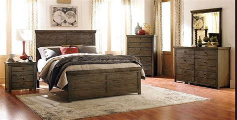 rustic bedroom sets homelegance hardwin bedroom set weathered grey rustic