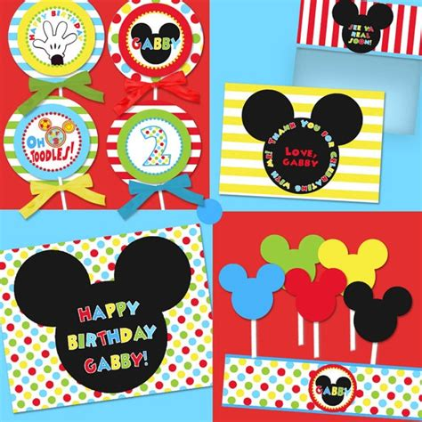 mickey mouse printable birthday clubhouse