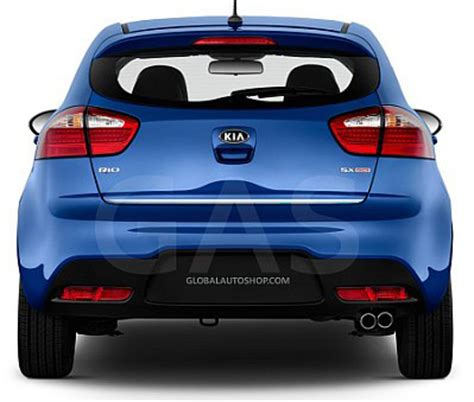 Kia Rio5 Accessories Kia Rio5 Rear Chrome Trunk Lid Trim Rear Chrome Trim