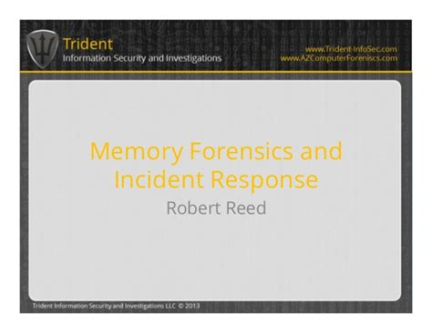 oracle incident response and forensics preparing for and responding to data breaches books memory forensics and incident response