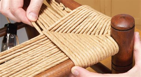 weave a chair seat crafts macrame rope paracord