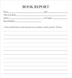 Book Report On 9 Book Report Templates Free Samples Examples Format