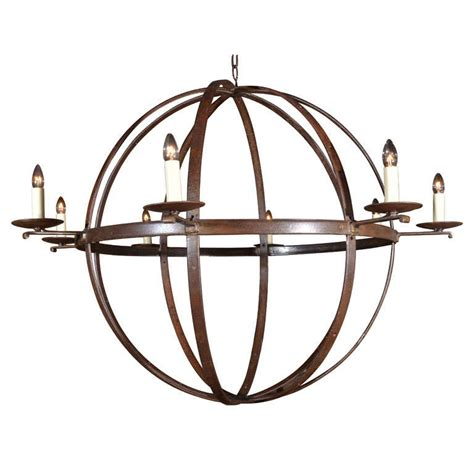 iron orb chandelier orb chandelier made from reclaimed antique iron elements
